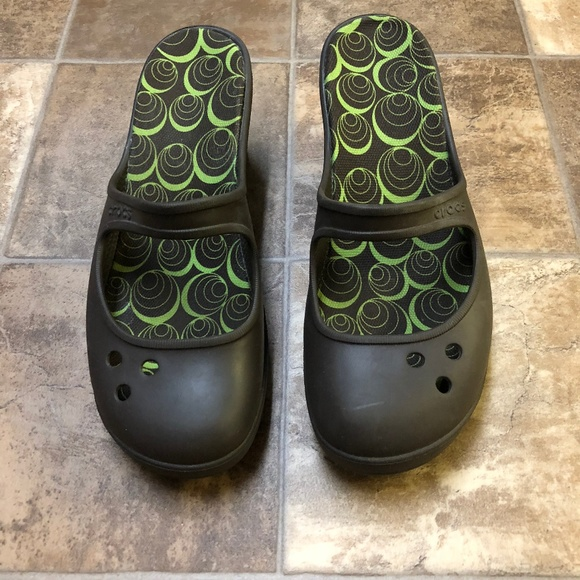 63b449ef7ecb CROCS Shoes - Crocs Frances Mary Jane Wedge Slip On Mules 10